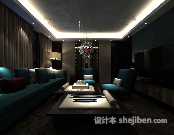 3d客厅窗帘模型