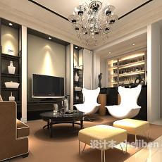 客厅酒柜3d模型下载
