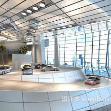 车展展厅3d模型下载