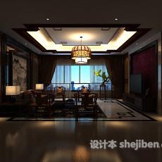 新中式吊顶吊灯3d模型下载