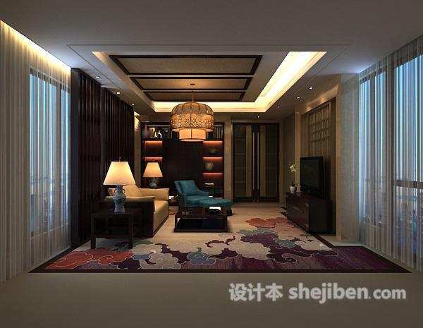 3d室内客厅窗帘模型