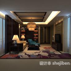 室内客厅窗帘3d模型下载