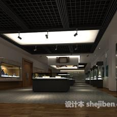 陈列馆吊顶3d模型下载