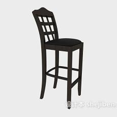 美式风格高脚椅子3d模型下载