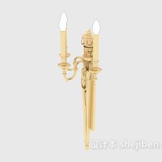 欧式金色壁灯3d模型下载