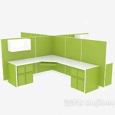 绿色办公单元3d模型下载