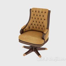 欧式风格老板椅3d模型下载