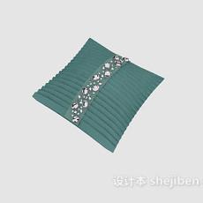 蓝色抱枕3d模型下载