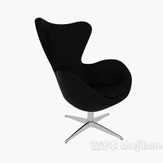 黑色天鹅椅3d模型下载