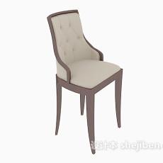 欧式靠背休闲椅子3d模型下载