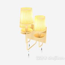 黄色家居风格壁灯3d模型下载