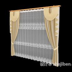 时尚窗帘3d模型下载