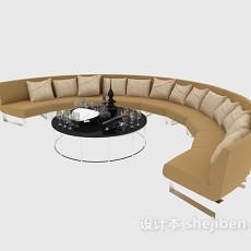 休闲办公沙发3d模型下载