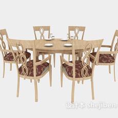 家庭餐桌3d模型下载