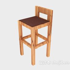 家居简约高脚椅3d模型下载