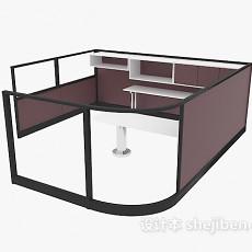 棕色办公单元3d模型下载