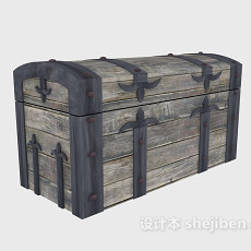 海盗船箱3d模型下载