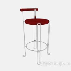 红色高脚椅3d模型下载