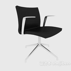 黑色扶手家居休闲椅3d模型下载