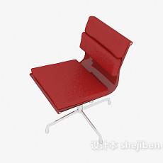 家居红色休闲椅3d模型下载