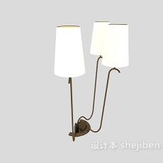 欧式风格工艺壁灯3d模型下载