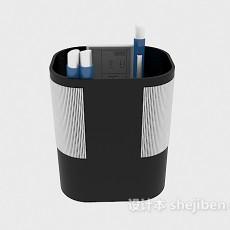 办公笔筒3d模型下载