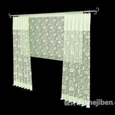 时尚清新窗帘3d模型下载