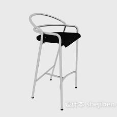 金属材料高脚椅3d模型下载