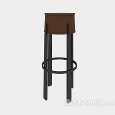高脚吧台座椅3d模型下载
