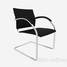公司黑色扶手办公椅3d模型下载
