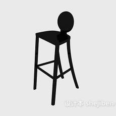 欧式高脚椅3d模型下载