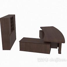 办公桌、文件储柜3d模型下载