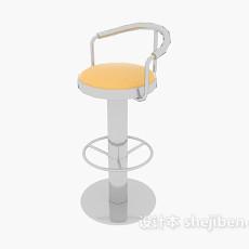 现代吧台高脚椅3d模型下载