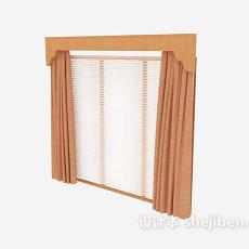 办公室窗帘3d模型下载