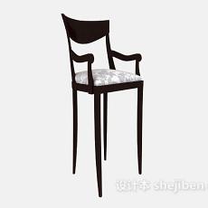 美式家居高脚椅3d模型下载