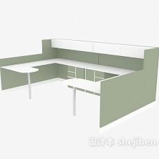 现代办公区域3d模型下载