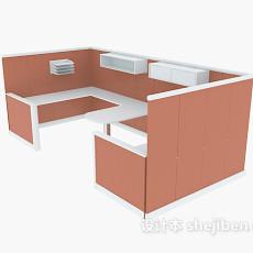 橙色办公单元3d模型下载