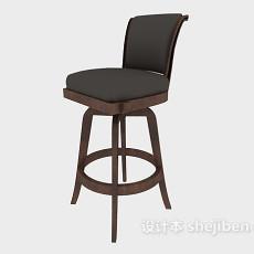 简约欧式高脚椅3d模型下载