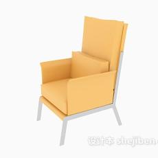 中式单人沙发椅3d模型下载