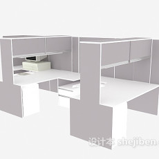 现代时尚办公单元3d模型下载