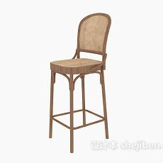 家居实木高脚椅子3d模型下载