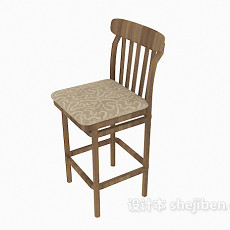 简约风格吧台椅3d模型下载