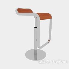 简约酒吧吧台椅3d模型下载