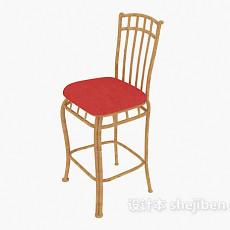 精致实木高脚椅3d模型下载