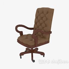 欧式老板办公椅3d模型下载