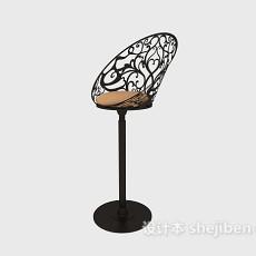 休闲风格高脚椅3d模型下载