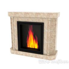 家庭壁炉3d模型下载