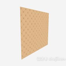 电视墙软装3d模型下载