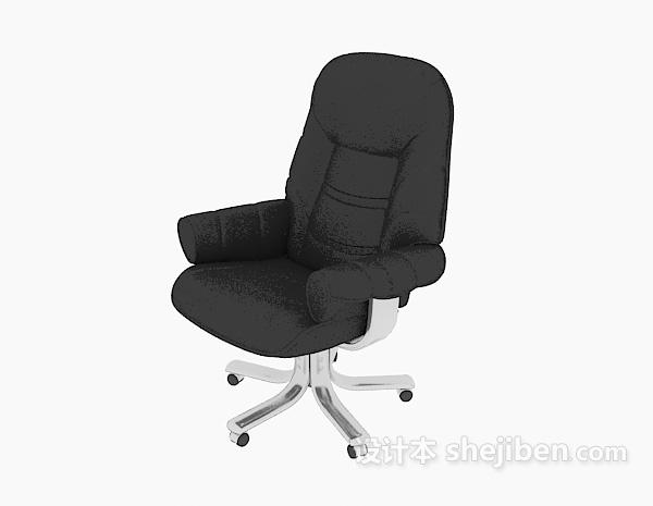 黑色皮质老板椅