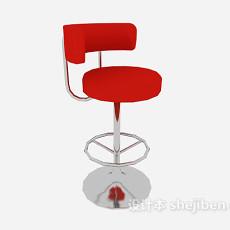 红色时尚休闲椅子3d模型下载